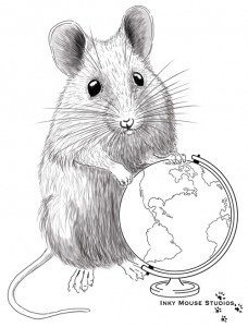 Global inky mouse illustration